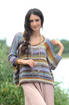 Favourites Pattern Collection : Noro Patterns : Designer Yarns.  Is it a poncho with sleeves?