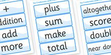 Shape Space Measure Vocabulary Cards (Year 3) - shape, space