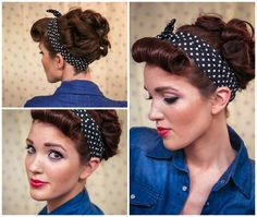 The Freckled Fox : Sweetheart Hair Week: Tutorial #3 Her hair tutorials look easy to follow!