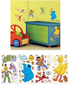 sesame street peel and stick wall decorations