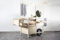 COS Pop-up Store is a minimalist design created by Austria-based design firm chmara. This design is a pop-up store for the fashion b. Display Design, Store Design, Visual Display, Nomadic Furniture, Pine Furniture, Mobile Shop, Pop Up Shops, Retail Space, Design Furniture