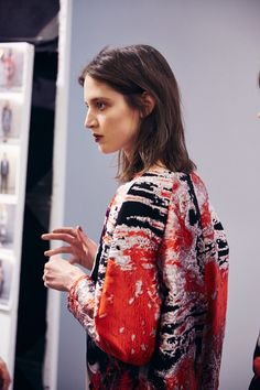 Backstage at MSGM AW14