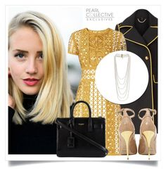 """""""SHOP - Pearl Collective - Necklace"""" by pearlcollective ❤ liked on Polyvore featuring mode, Burberry, Balmain en Yves Saint Laurent"""