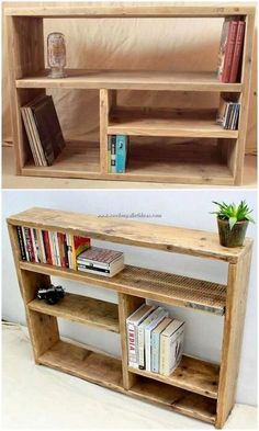 Cool 50 Easy DIY Bookshelf Design Ideas for Your Home source : ideabosdecoration. diy easy 50 Easy DIY Bookshelf Design Ideas for Your Home Pallet Furniture Bookshelf, Diy Bookshelf Design, Wooden Bookcase, Wooden Pallet Furniture, Wooden Pallets, Wooden Diy, Pallet Bookshelves, Build A Bookshelf, Bookshelf Ideas
