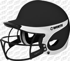 Worth Liberty Away Matte Batting Helmet w. Facemask - Fits most and is available in 8 colors Softball Gear, Fastpitch Softball, Sports Uniforms, Bicycle Helmet, Football Helmets, Liberty, Under Armour, Baseball, Netball Uniforms