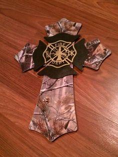 Camo Firefighter Cross