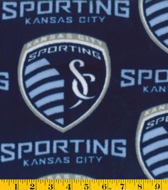 "Sporting Kansas City Fleece Fabric 58"" - Logo"