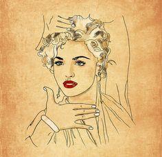 Madona Vogue Giclee Art Print Limited edition by OrangeOptimist, $55.00