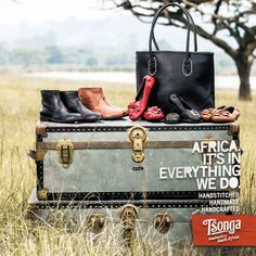 Using the finest leather and our handcrafted promise, Tsonga handbags, shoes and accessories are unique in style and comfort that is unmistakably Tsonga. Made in Africa. Zulu, Country Decor, Hand Stitching, Bag Making, Leather Shoes, South Africa, Pumps, Birth, Totes