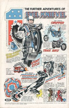 1975 Evel Knievel comic book ad.