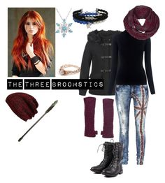 """The Three Broomsticks"" by cinwolff on Polyvore featuring Vero Moda, M.i.h Jeans, The North Face, NOVICA and King & Fifth Supply Co."