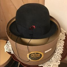 ❌Sold-Vintage Borsalino Grand Prix Paris 1900 This beautiful black soft velvet hat by Borsalino is one of a kind. Hat is in excellent condition. Size 7 1/2, made in Italy. Accessories Hats