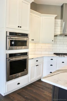Built in Microwave & Oven in Aledo, IL - Appliances by Village Home Stores- New Build Farmhouse Rural Illinois - Village Home Stores Blog Built In Microwave Oven, Kitchen Cabinets, Kitchen Appliances, At Home Store, New Builds, Illinois, Building A House, New Homes, Farmhouse