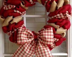Faith Wreath Gold Burlap & Cream Wreath Easter von CheckeredDaisy