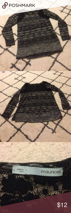 Maurice's Top Maurice's Top•Size Large•EUC•Factory slits on sides at the bottom•Lace is in great condition•Any questions please ask! Maurices Tops Blouses