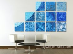 Office Abstract Painting  HUGE Custom 12 panel  by TwistOfUnique, $810.00