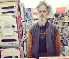 Scary Looking Guy at Walmart - Funny Pictures at Walmart!FOLLOW THIS BOARD FOR GREAT PINS OF ALL THE WALMART CRAZIES, WIERDO'S AND JUST REGULAR WALMART SHOPPERS( :-o )