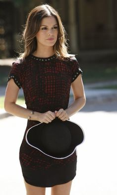 Zoe from Hart of Dixie's black and red studded dress