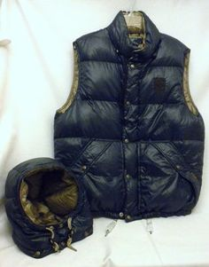 Ralph Lauren Black Men Down Hoody Jackets