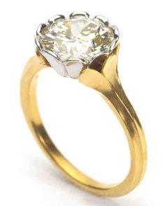 McTeigue & McClelland Gold Set Engagement Ring