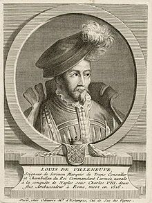 Louis de Villeneuve. The French ambassador, arrived in Rome with the articles of agreement setting forth the terms upon which Louis XII was prepared further to assist Cesare in the resumption of his campaign. 1500