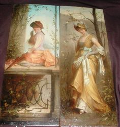 Important Russian Artist Emile Eisman Semenowsky Pair of Oil Paintings | eBay