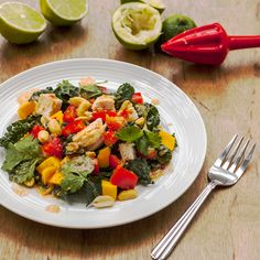 Thai Chicken, Kale & Mango Salad Recipe on Yummly