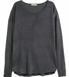 Charcoal gray sweater H&M Basic charcoal gray ribbed sweater, size large. Acrylic/viscose, very lightweight for spring or fall H&M Sweaters Crew & Scoop Necks