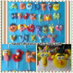 Alphabet For Kids, Alphabet Letters, Fondant Cupcake Toppers, Cupcake Cakes, Fondant Letters, Cake Lettering, Baby Mold, Fondant Animals, Custom Cupcakes
