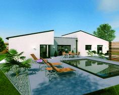 Plan maison - Un vaste plain-pied original