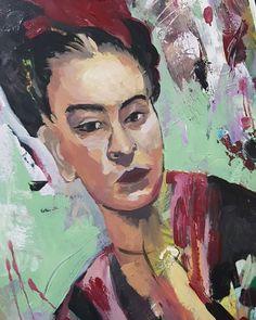 """33 Me gusta, 5 comentarios - Castrolara. Nieves (@ncastrolara) en Instagram: """"Aún en proceso.  Enamórate  de ti. De la vida. Y luego,  de quien  tú  quieras.  Frida khalo.…"""" Painting, Instagram, Art, Frida Khalo, Life, Art Background, Painting Art, Kunst, Paintings"""