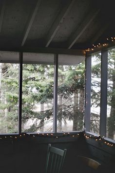 The perfect, simple screened in porch, up high.