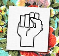 Fist, fight for your rights Cross stitch pattern embroidery