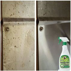 Howard Stainless Steel Cleaner easily cleans food grime, oily fingerprints and even kitchen grease. The streak-free formula produces a beautiful shine on appliances and all stainless steel surfaces. Cleaning Spray, Cleaning Walls, Oven Cleaning, Kitchen Cleaning, Green Cleaning Recipes, Natural Cleaning Recipes, Natural Cleaning Products, House Cleaning Humor, Stainless Steel Cleaner