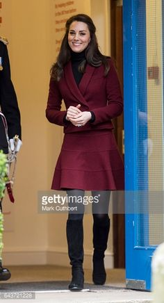 Catherine Duchess of Cambridge visits MIST a child and adolescent mental health project on February 22 2017 in Torfaen United Kingdom