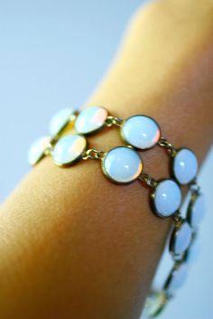 Antique Moonstone Opal Bracelet Etsy - FashionHouseVintage