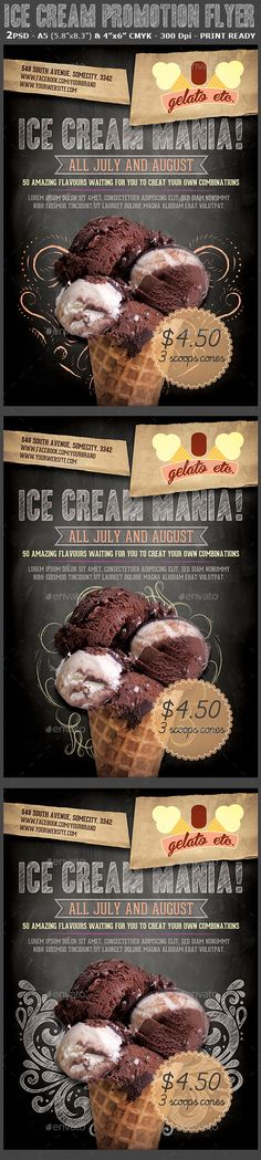 Ice Cream Shop Promotion Flyer Template
