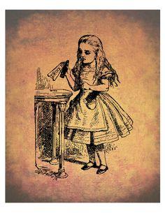 """Ilustração de John Tenniel para a primeira edição de """"Alice in Wonderland"""", de Lewis Carroll, publicada em 1865. Veja mais em: http://semioticas1.blogspot.com.br/2011/07/alice-vai-ao-futuro.html"""