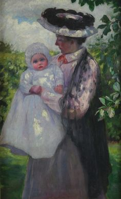 Mother and Child ~ William Mainwaring Palin ~ (English: 1862-1947)