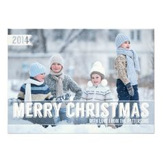 Bold Modern Merry Christmas Big Photo Card Personalized Invite http://www.zazzle.com/bold_modern_merry_christmas_big_photo_card_invitation-161509988970122893?printquality=4color&rf=238675983783752015