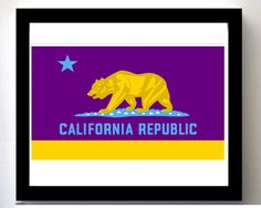 Blue and Yellow California Pop Art Style Bear Flag | Bear Flag Museum  http://bearflagmuseum.blogspot.com/2013/06/blue-and-yellow-california-pop-art.html