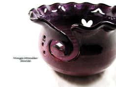 Large Yarn bowl Knitting bowl in raspberry red by Ningswonderworld, $40.00
