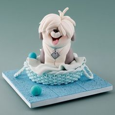 Intermediate Sugar Modelling: Old English Sheepdog Puppy with Carlos Lischetti