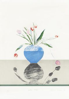 David Hockney (British, born 1937) Pretty Tulips Lithograph printed in colours, 1969, on handmade Crisbrook, signed, titled, dated and numbered 103/200 in pencil, published by Petersburg Press, London, the full sheet, 725 x 505mm (28 1/2 x 1 7/8in) (SH)