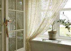 Simple Lace Panels - via Modern Country: En stille dag... a quiet day...