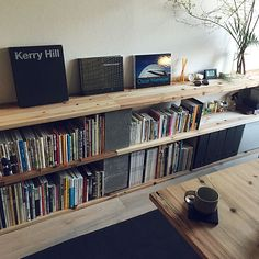 Home Office Design, Home Office Decor, House Design, Low Bookshelves, Living Room Shelves, Interior Decorating, Interior Design, House Rooms, Living Spaces