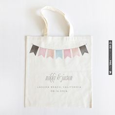 banner watercolor wedding tote | CHECK OUT MORE IDEAS AT WEDDINGPINS.NET | #weddings #weddinggear #weddingshopping #shopping