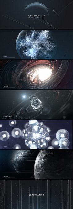 Exploration in Motion on Behance   ________________________________________ A beautiful use of particles to make complex structures and effects.  The idea of manipulating particles is fascinating to me, the different possibilities that exist between physics and expressions seem endless