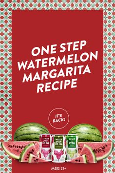 Open the can. It's full of great watermelon flavor and an easy cocktail recipe for your summer party. #HAVEARITA #Mix #Cool #Frozen #Simple