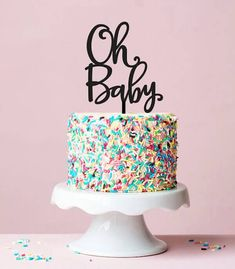 Oh baby cake topper baby shower cake topper gender neutral shower gender reveal cake topper 059 Bebe Shower, Deco Baby Shower, Baby Shower Themes, Baby Boy Shower, Neutral Shower Ideas, Gender Neutral Baby Shower, Oh Baby Cake Topper, Cake Toppers, Gateau Baby Shower